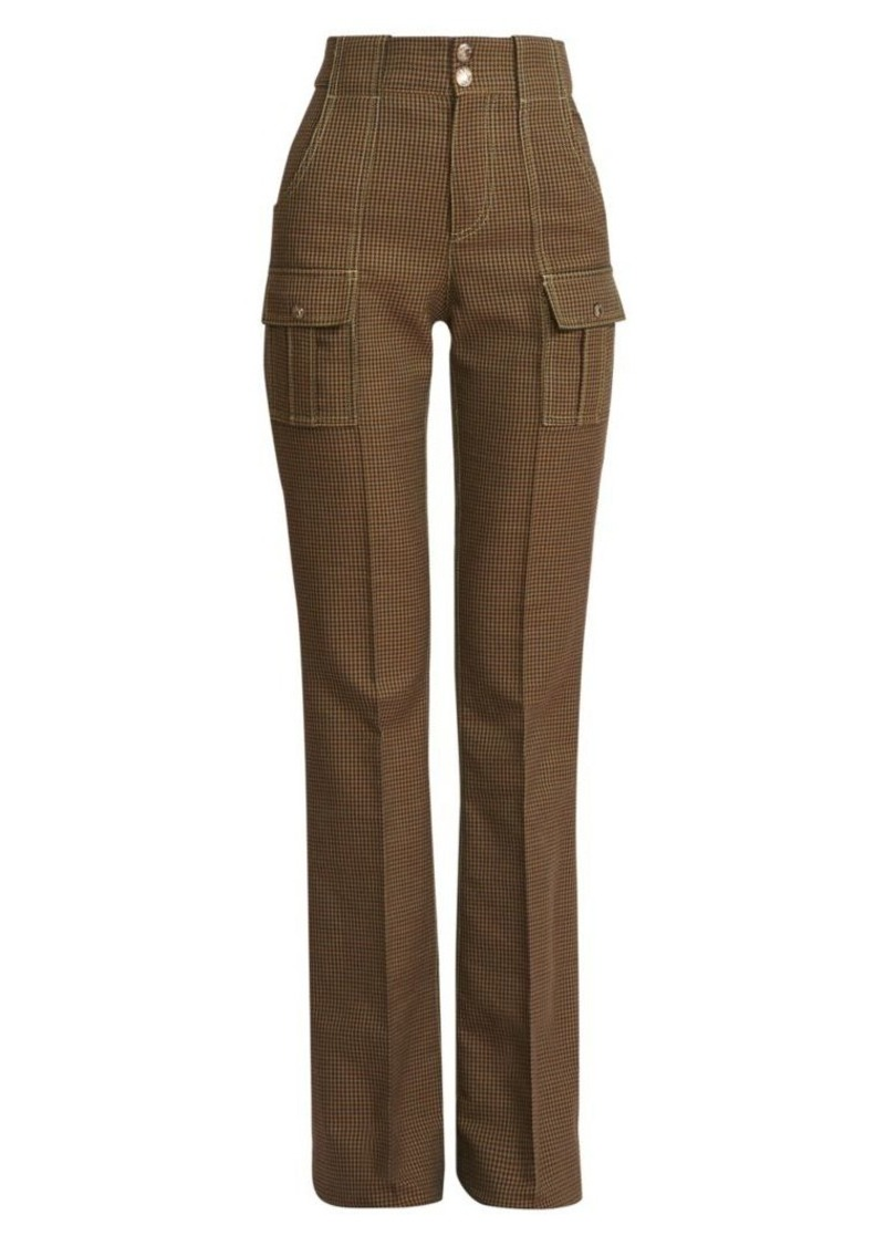 Chloé Houndstooth Cargo Trousers