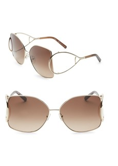 Chloé Jackson Oversized Metal Square Sunglasses