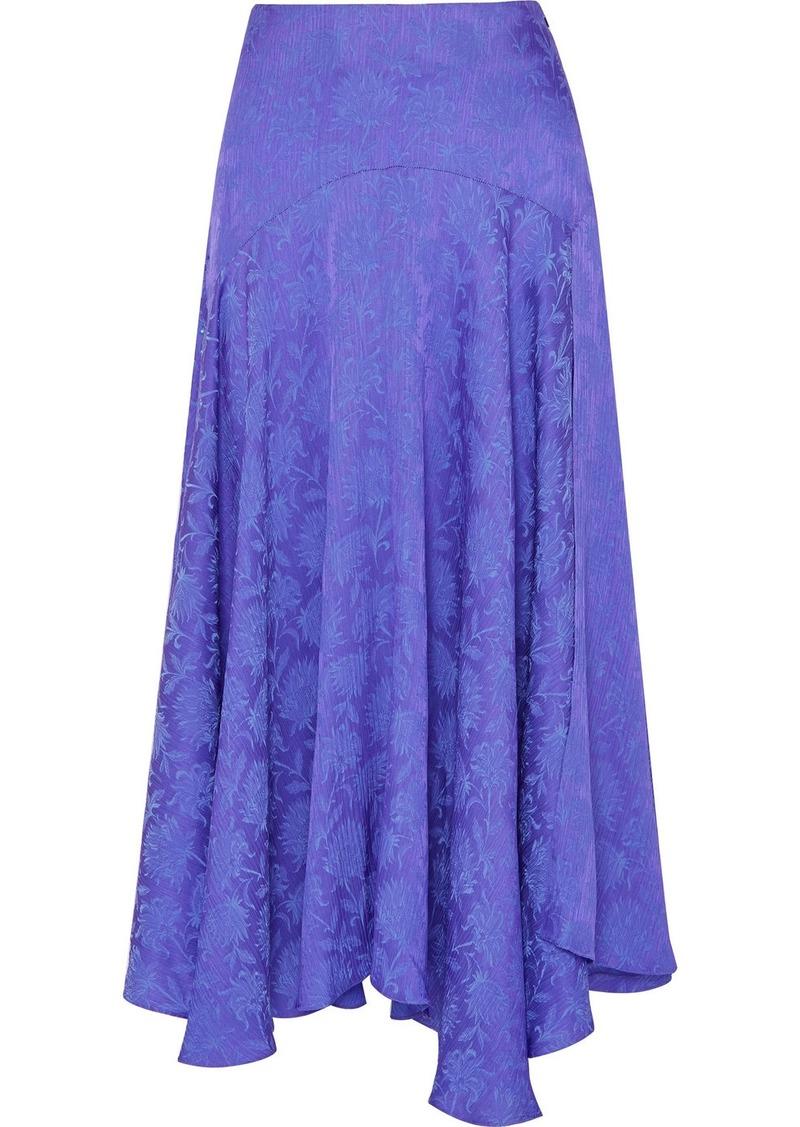 Chloé Plissé-jacquard Midi Skirt
