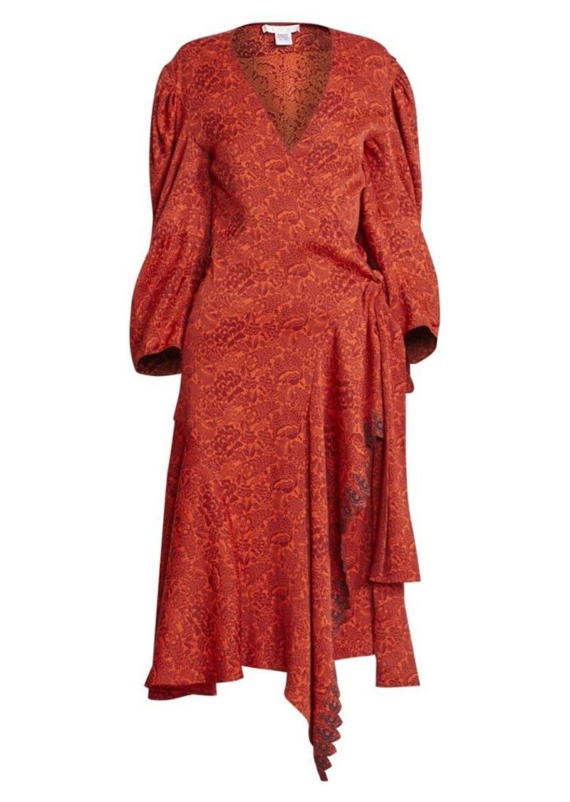 Chloé Jaquard Side-Tie Midi Dress