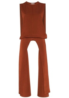 Chloé knitted metallic double faced long top