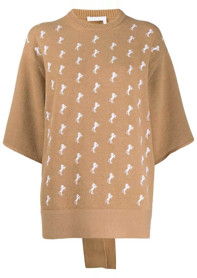 Chloé embroidered knitted jumper