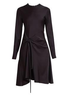 Chloé Knot Detail Long Sleeve A-Line Dress