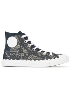Chloé Kyle denim hi-top sneakers