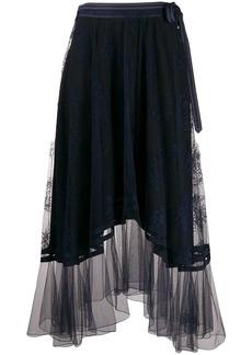 Chloé lace asymmetric midi skirt