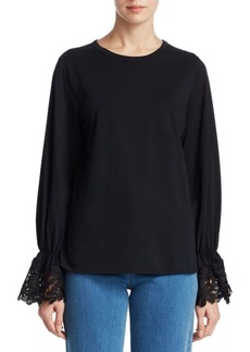 See by Chloé Lace Bell-Sleeve Blouse