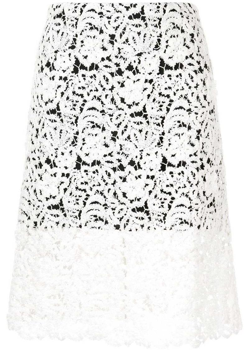 Chloé lace midi skirt