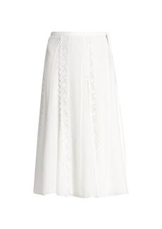 Chloé Lace Silk Georgette A-Line Skirt