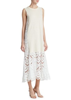 See by Chloé Lace-Trim Dress