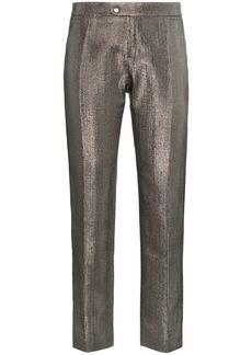 Chloé lame metallic cotton blend trousers