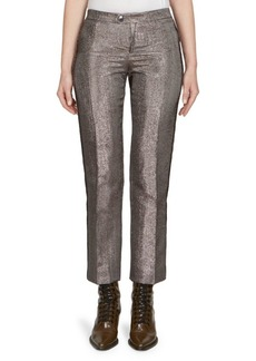 Lame Mid-Rise Trousers