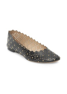 Chloé Lauren Perforated & Studded Leather Ballet Flats