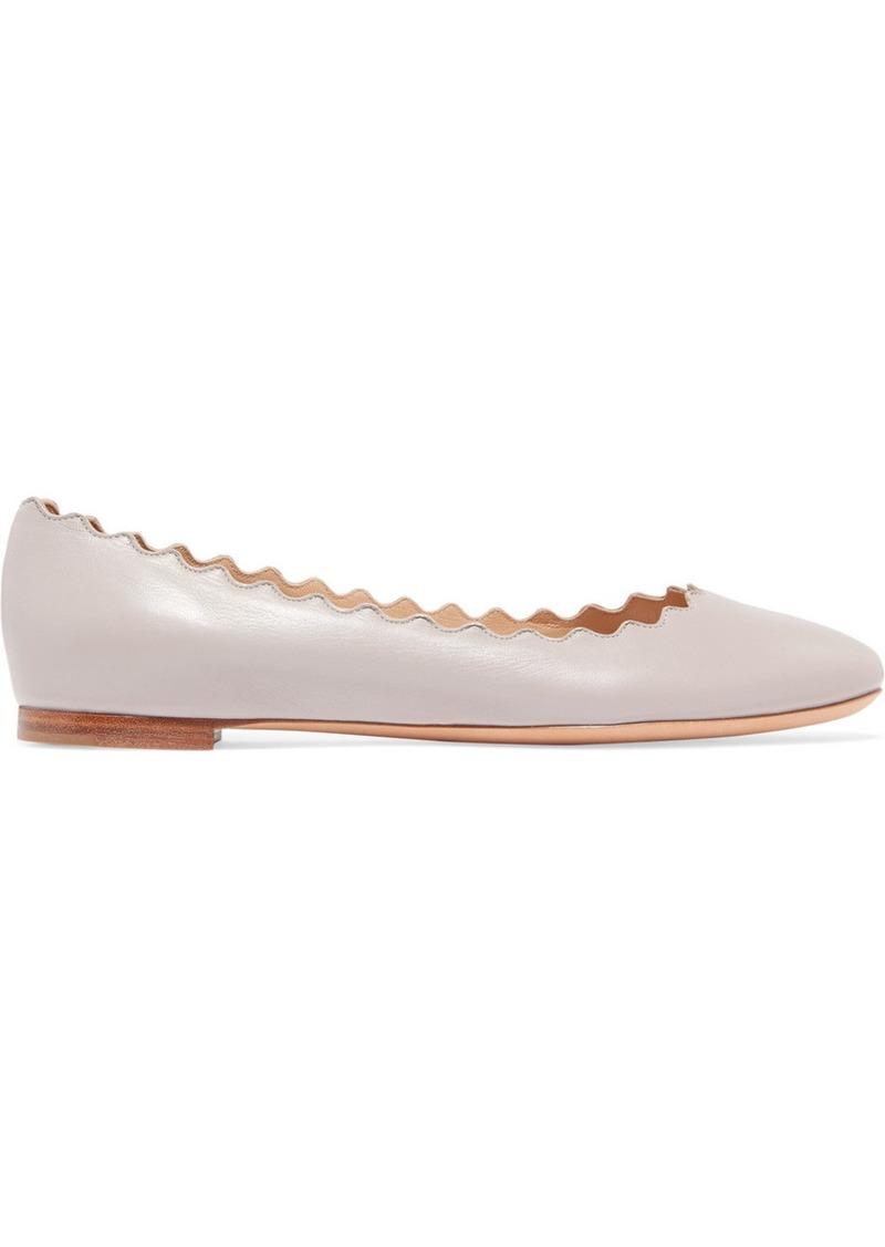 5587a324d23 Chloé Lauren Scalloped Leather Ballet Flats