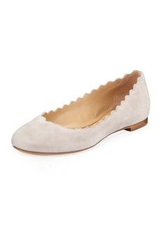 Chloé Lauren Scalloped Suede Ballet Flats