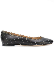 Chloé Lauren studded ballerina shoes
