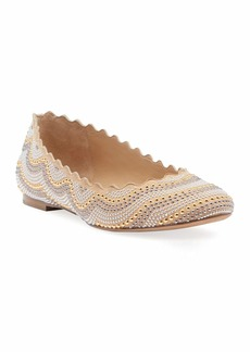Chloé Lauren Studded Suede Ballet Flats