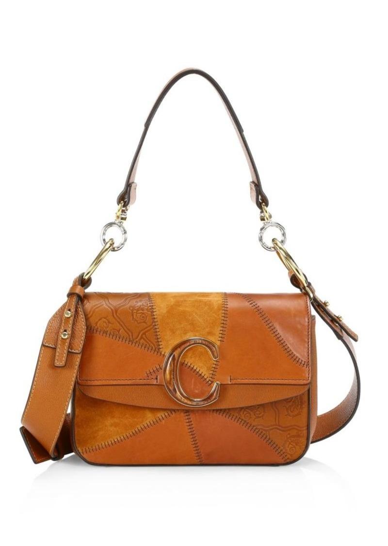 Chloé C Patchwork Leather Shoulder Bag