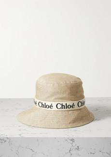 Chloé Leather-trimmed Cotton-canvas Bucket Hat