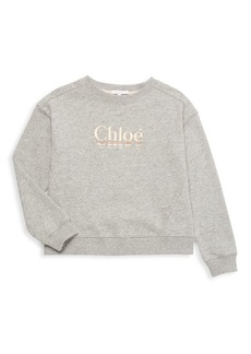 Chloé Little Girl's & Girl's Embroidered Logo Sweatshirt