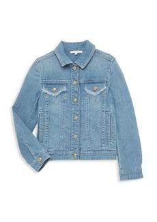 Chloé Little Girl's & Girl's Fringed Denim Jacket