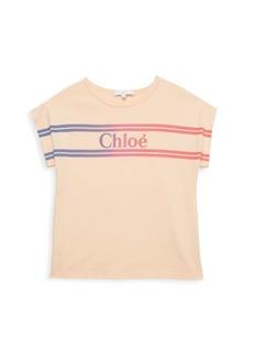 Chloé Little Girl's & Girl's Gradient Striped Logo T-Shirt
