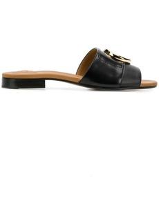 Chloé logo plaque flat sandals