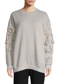 See by Chloé Long-Sleeve Cotton Fleece Pullover