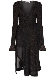 Chloé Lurex knit wrap dress