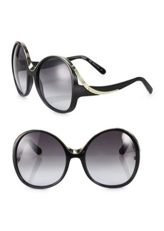 Chloé Mandy 61MM Oversized Round Sunglasses