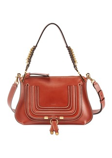 Chloé Marcie Saddle Shiny Shoulder Bag
