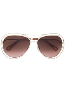 Chloé metal frame sunglasses