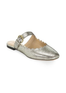Chloé Lauren Metallic Leather Mules