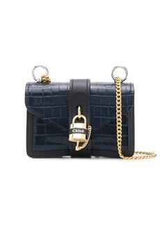 Chloé mini Aby Chain crocodile-effect shoulder bag