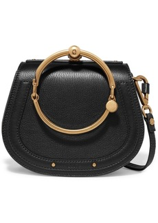 Chloé Nile Bracelet Small Textured-leather And Suede Shoulder Bag
