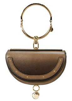 Chloé Nile Minaudière Jeweled Calfskin Bracelet Bag
