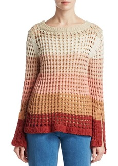 See by Chloé Ombre Crochet Sweater