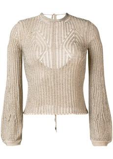 Chloé open back knitted jumper