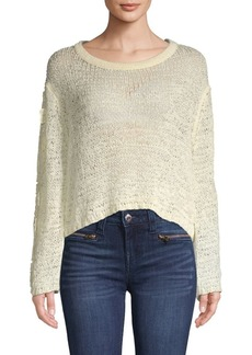 See by Chloé Open-Knit Crop Sweater