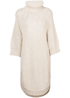 Chloé open knit rollneck tunic