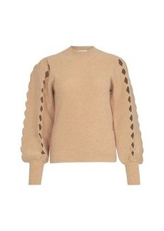Chloé Openwork scalloped sweater