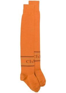 Chloé over-the-knee logo socks