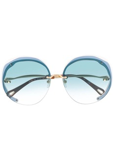 Chloé oversized circle frame sunglasses