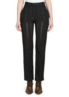 Chloé Owl Eye Embroidered Trousers