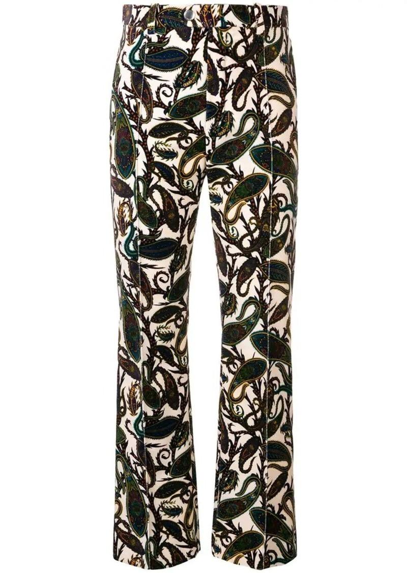 Chloé paisley print trousers