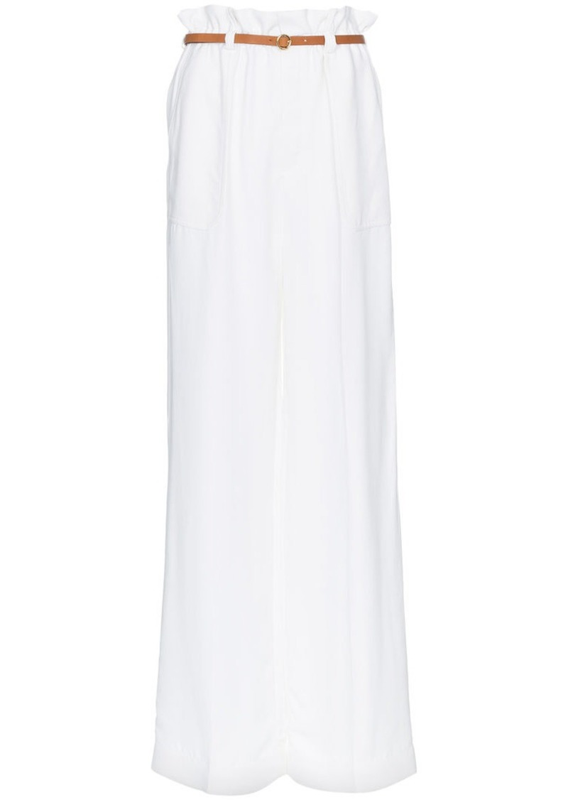 Chloé paper bag-waist belted trousers