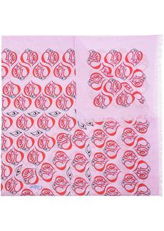 Chloé Pareo logo-heart cotton scarf