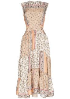 Chloé Patchwork printed midi dress
