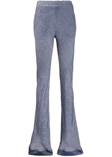 Chloé patterned flared trousers