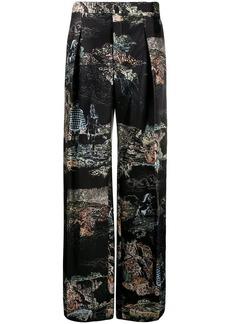 Chloé patterned wide-leg trousers
