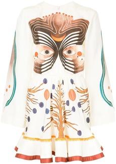 Chloé pictorial print dress